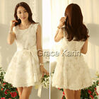 NEW Women Summer Floral Lace Sexy Bridesmaid dress casual vestidos Party Dress