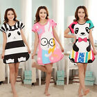 CHIC Fashion Cartoon Womens Sweet Polka Dot Sleepwear Pajamas Short Sleeve Sleep