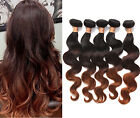 "US Hot Ombre Human Hair 3tone:1B/4/30# BODY WAVE Brazilian Human Hair 16""-20""New"