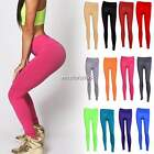 New Ladies YOGA Women Pants Tight Leggings Stretch Athletic Apparel Candy color