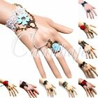 New Lace Retro Vintage Crystal Beads Adjustable Bracelet & Ring Set For Women