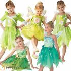 Girls Tinkerbell Disney Fairy Pixie Fancy Dress Kids Costume Book Week Outfit