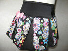 NEW Black Pink White floral Skulls Skirt Rock Gift party Lolita Punk festival