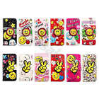 For Multi Cellphones Cute Smile Flip Synthetic Leather Card Wallet Case Cover#A1