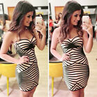 HOT Sexy Women Strapless Prom Clubwear Bodycon Cocktail Party Evening Mini Dress