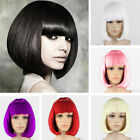 New Ladies Short Wig Bob Style Party Fancy Dress Costume Cosplay UK Seller