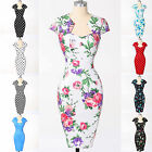 VINTAGE 60's 50's Rockabilly Pinup FLORAL SWING Evening Pencil Midi PROM Dresses