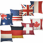 NATIONAL COUNTRY Cushion Cover Pillow Case Slip Soft Faux Linen Home Bed Sofa