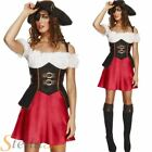 Ladies Sexy Fever Pirate Wench Caribbean Fancy Dress Costume Outfit 8-18