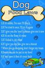 DOG FOOD LAWS/RULES Funny Fridge Magnet Ideal Birthday/Xmas Gift/Present (A-J)
