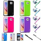 TPU Jelly Rubber Gel Case Cover+LCD Film+Pen For Samsung Galaxy S6 Edge / S6