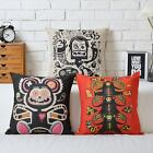 Cartoon Hand-Painted Monkey Pillow Case Sofa Decor Cushion Cover Square Linen