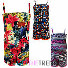 Girls Aztec Strappy Playsuit Girls Minx Summer All In One Shorts Playsuit 7-13