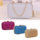 Women Clutch Box Evening Party Glitter Chain Hand Bags Solid Hasp style Wallet