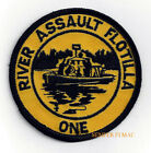RIVER ASSAULT FLOTILLA ONE HAT PATCH RAF-1 US NAVY RIVER RATS PIN UP VIETNAM USS