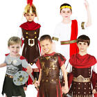 Roman Boys Fancy Dress Gladiator Warrior Historical Book Day Week Kids Costume