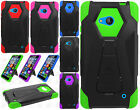 For Nokia Lumia 640 Turbo Layer HYBRID KICKSTAND Rubber Case Cover+Screen Guard