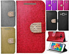 For Samsung Galaxy Grand Prime Diamante Glitter Leather Wallet Flip Phone Case