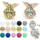Mexican Bola Pendant Angel Wings Cage Harmony Chime Ball Pregnancy Necklace Gift