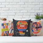 Colorful Words Children Gift Pillow Case Sofa Decor Cushion Cover Square Linen