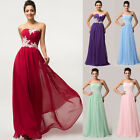 New Women Chiffon Formal Long Bridesmaid Cocktail Party Gown Evening Prom Dress