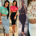 New Sexy Vogue Lace Crochet Perfect Short Sleeve Shirt Mystic Top Blouse