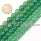 DIY Jewelry Making Smooth Round Aventurine Spacer Gemstone Beads Strand 15""