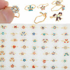 30X Chic Wholesale Lot Gold Plated Assorted Adjustable Cute Kid Children's Rings