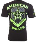 AMERICAN BALLER Mens T-Shirt BASKETBALL Jersey USA NBA Gym Shoes Jordan M-3XL i