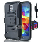 For Samsung Galaxy SERIES Rugged Hybrid H Stand Holster Case Cover Colors
