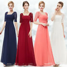 Women Lace Sleeve Long Formal Bridesmaid Dresses Evening Party Gown 08038