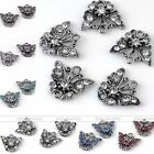 5pcs Rhinestone Silver Plated Butterfly Bracelet Pendant Charm Connector Finding