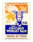 1933 Chicago World's Fair Poster #2 - Vintage Art Deco Poster Print