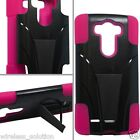 BLACK & HOT PINK T-Stand Hybrid Case for LG Optimus G3 G 3