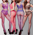 Sexy lace Fish Net gauze see through Body stocking Bodysuit Lingerie Babydoll