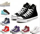 Fashion high top Sneaker Sport Train Womens Canvas Lace Up Casual Preppy shoes