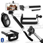 SELFIE STICK MONOPOD BLUETOOTH CAMERA SHUTTER REMOTE FOR iPHONE SAMSUNG