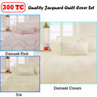 300TC Jacquard Poly Cotton Quilt Cover Set by Accessorize QUEEN KING