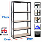 Boltless 5 or 4 Tier Heavy Duty Garage Storage Metal Steel Shelving Racking Unit <br/> Free UK Mainland Delivery