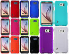 For At&t Samsung Galaxy S6 Active Rubberized HARD Protector Case +Screen Guard