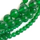 "Grass Green Jade Round Beads 15"", 6, 10, 12mm, pick your size"