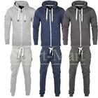 Mens Smith & Jones Fleece Full Tracksuit Hooded Zip Top Jogging Bottoms Size