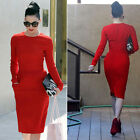 RED Sexy Women Elegant Vintage Party Cocktail Evening Mermaid Wiggle PencilDress