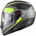Black Optimus SV Tour Max Vision Flip Up Front Motorcycle Helmet Pinlock Ready
