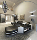 Modern Leather Sectional Sofa Prato L Shaped Illuminated With Led Lights