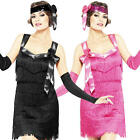 1920s Gatsby Flapper Ladies Fancy Dress 20s Charleston Womens Adults Costume