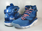 REEBOK MENS SHAQ ATTAQ IV Impact Blue / White-Blue -M43368- BASKETBALL