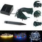 New 100 LED Solar String Fairy Net Light Waterproof Outdoor Garden Lawn Decor
