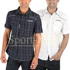 Mens D-Struct Check Print Short Sleeve Regular Fit Casual Shirt Size