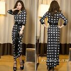 Vintage Women Geometric Peplum Boho Formal Party Bandage Evening Long Maxi Dress